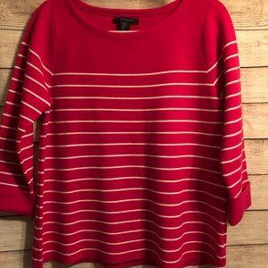 Tahiti fuscia three quarter sleeve sweater